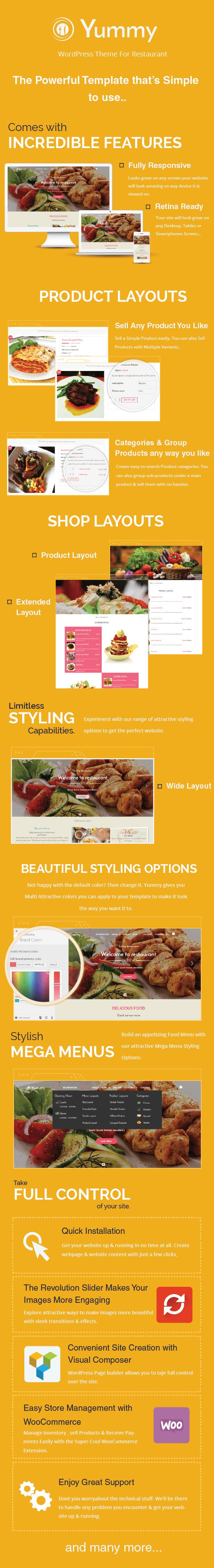Lecker - Restaurant & Essen WordPress Vorlage bestellen