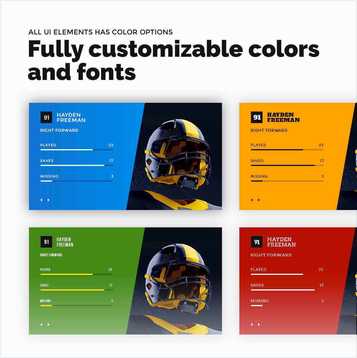 Völlig kundengerechte Farben und Schriftarten
