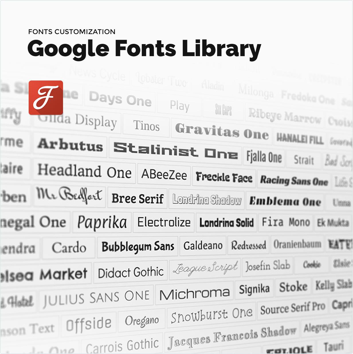 Google Schriftartenbibliothek