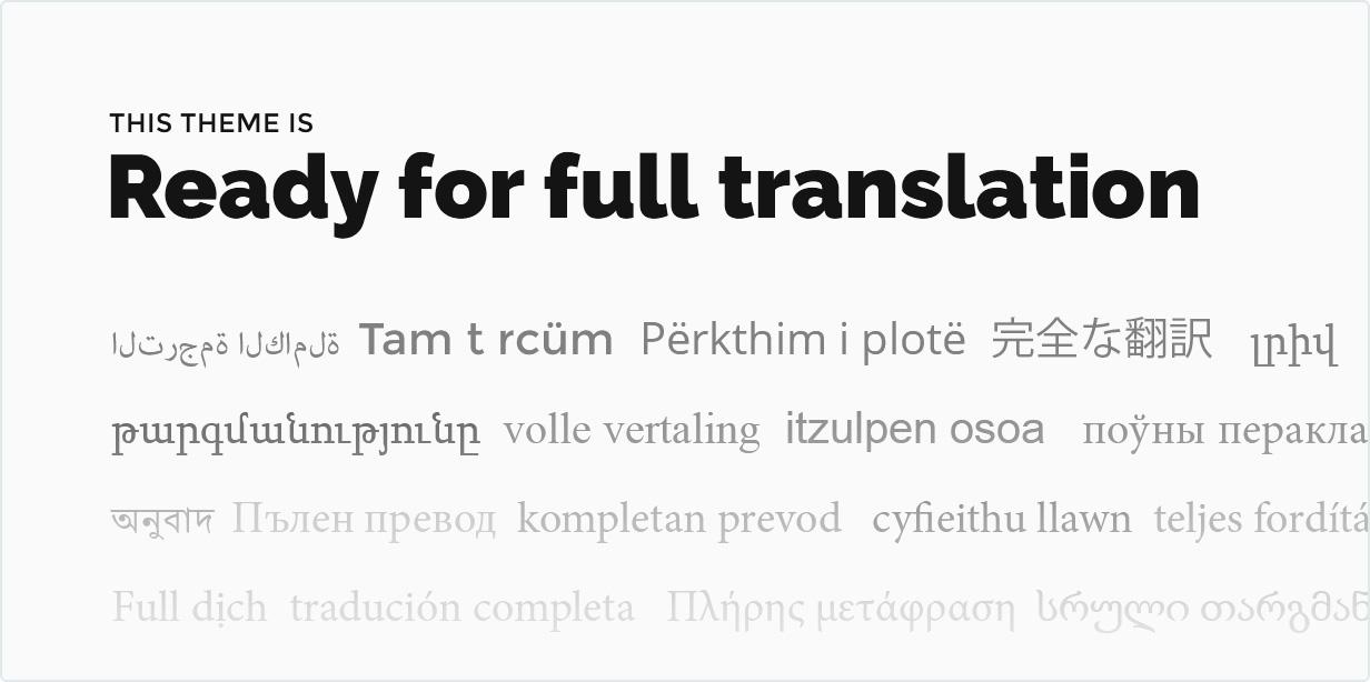 Das Thema ist bereit für die vollständige Übersetzung
