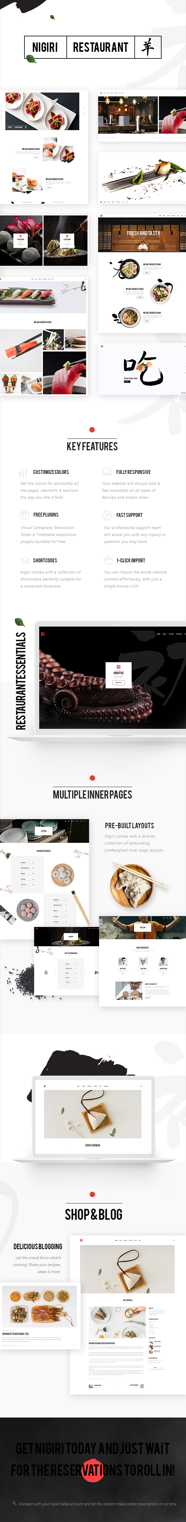 Nigiri - Ein modernes Restaurant WordPress Template