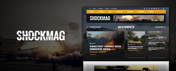 Shockmag - Ad Optimized Magazin WordPress Template mit leistungsfähigem Anzeigesystem
