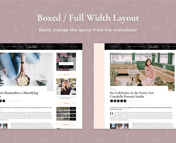 Charlotte - Kreatives Blog WordPress Layout