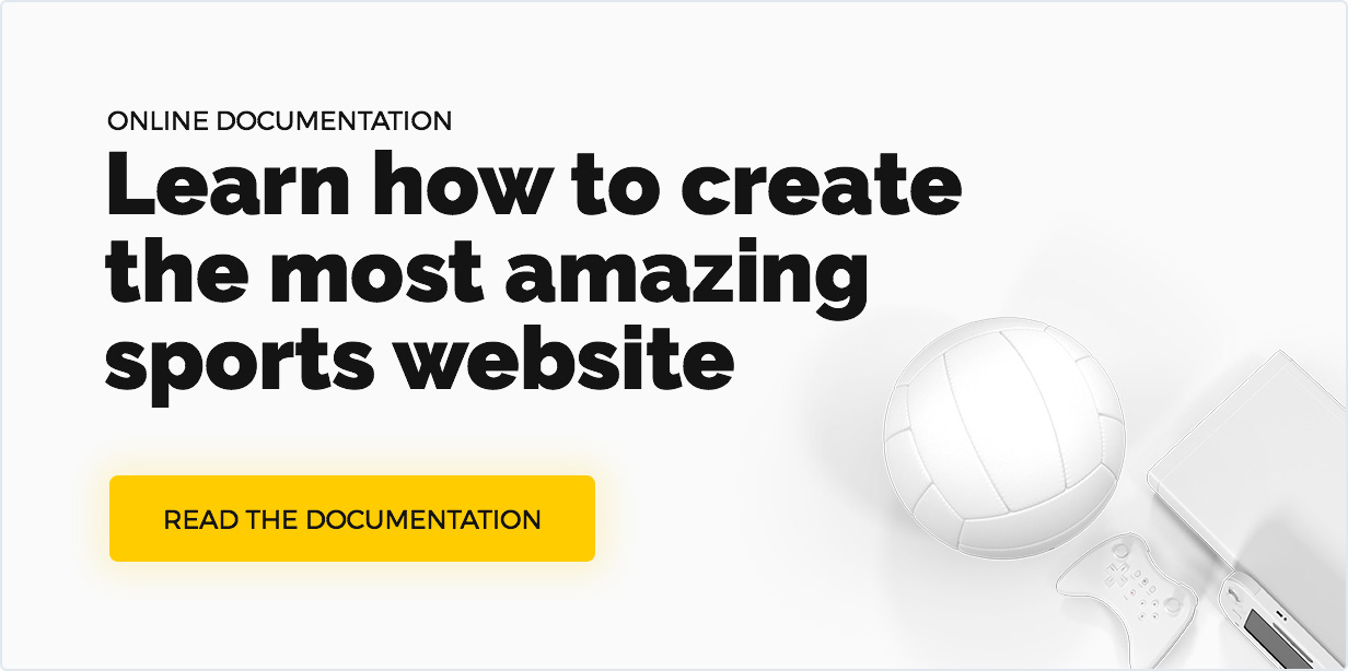 Team WordPress-Dokumentation oder Wie erstellt man die tollste Sport-Website
