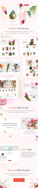 Fiorello - Ein Blumenladen und Florist WooCommerce Vorlage