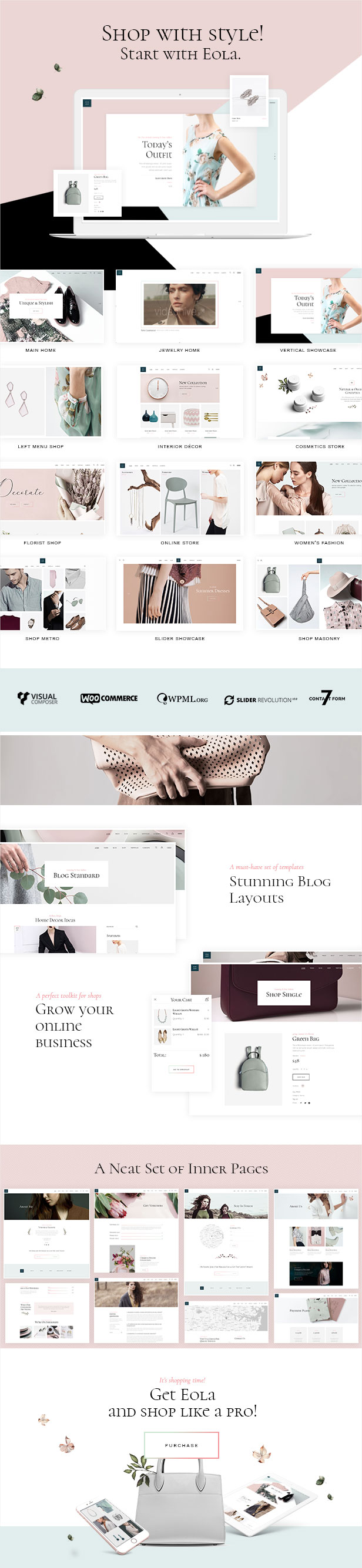 Eola - Ein elegantes, vielseitiges WooCommerce-Template