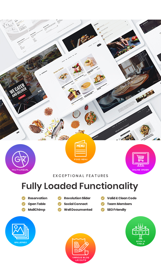 Ambiense - Restaurant & Cafe WordPress Layout