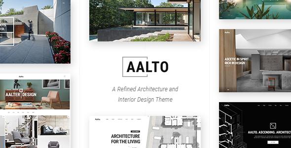 Wordpress Kreativ Template Aalto - Refined Architecture and Interior Design Theme