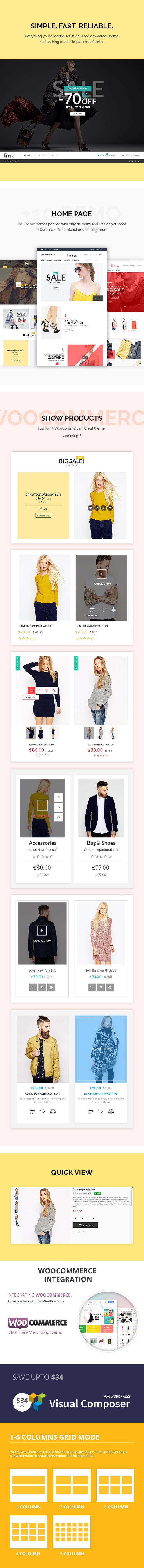 Fashion Store - Hanbags, Shoer RTL Responsive WooCommerce WordPress Layout