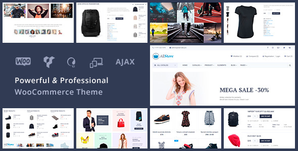 Wordpress Shop Template AllStore - Universal WooCommerce WordPress Shop Theme