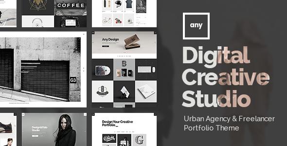 Wordpress Kreativ Template Any - Urban Agency & Freelancer Portfolio Theme