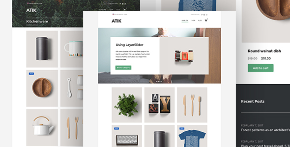 Wordpress Shop Template Atik - A Simple WordPress Theme for your Online Store