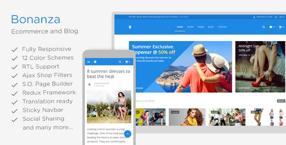 Wordpress Shop Template Bonanza - Responsive Multipurpose WooCommerce WordPress Theme