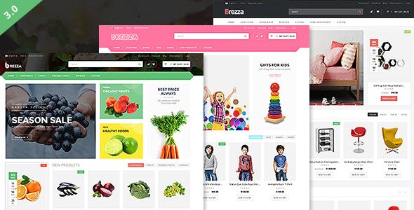 Wordpress Shop Template Brezza - Fruit Store Multipurpose WooCommerce WordPress Theme