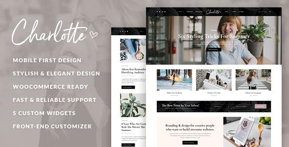 Wordpress Blog Template Charlotte - Creative Blog WordPress Theme