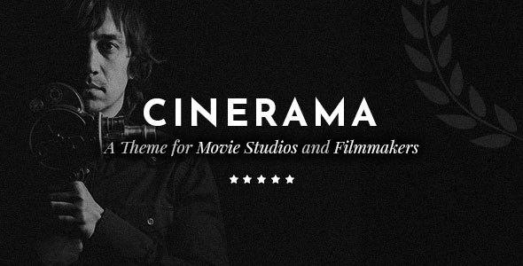 Wordpress Kreativ Template Cinerama - A Theme for Movie Studios and Filmmakers