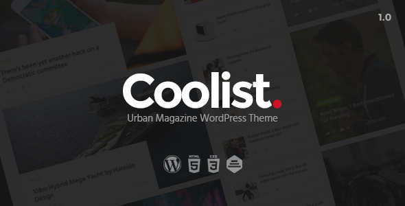 Wordpress Blog Template Coolist | Infinite Scroll Magazine WordPress Theme