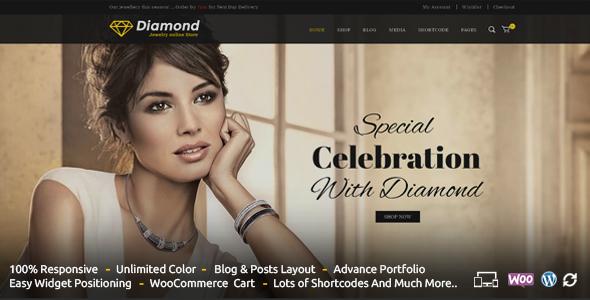 Wordpress Shop Template Diamond - Responsive WooCommerce Theme