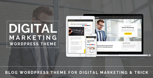 Wordpress Blog Template Digital Marketing - Blog WordPress Theme