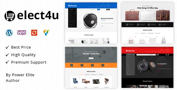 Wordpress Shop Template Elect4u - Multipurpose WooCommerce Theme