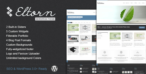 Wordpress Corporate Template Eltorn - Premium WordPress Theme