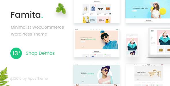 Wordpress Shop Template Famita - Minimalist WooCommerce WordPress Theme