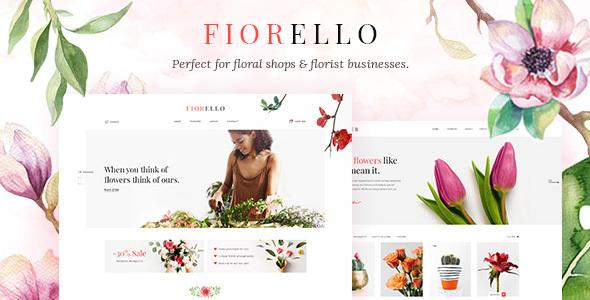 Wordpress Shop Template Fiorello - A Flower Shop and Florist WooCommerce Theme