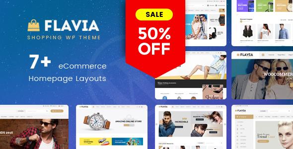 Wordpress Shop Template Flavia - Download Responsive WooCommerce WordPress Theme