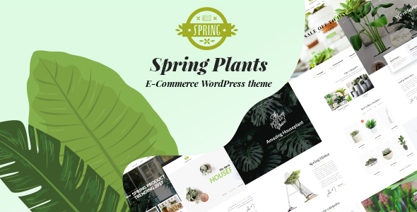 Wordpress Shop Template Spring Plants - Gardening & Houseplants WordPress Theme