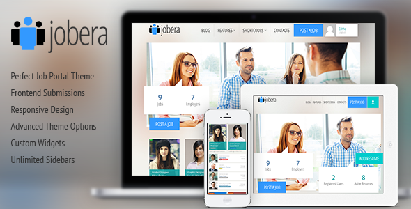 Wordpress Directory Template Jobera - Job Portal WordPress Theme