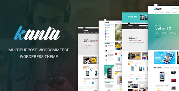 Wordpress Shop Template Kanta - Multipurpose WooCommerce WordPress Theme