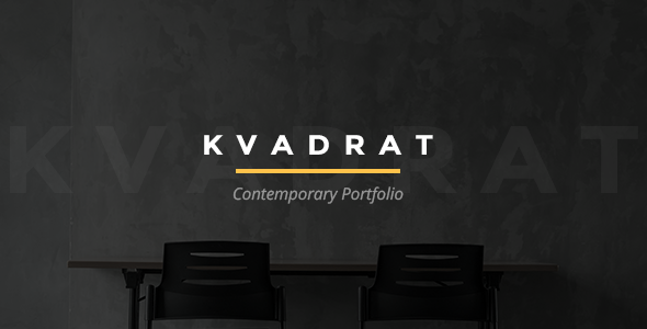 Wordpress Kreativ Template Kvadrat - Contemporary Portfolio