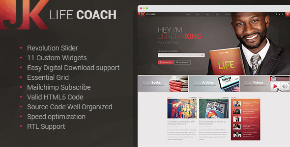 Wordpress Blog Template Life Coach - Personal Page WordPress theme