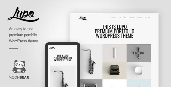 Wordpress Kreativ Template Lupo / Professional Portfolio WordPress Theme