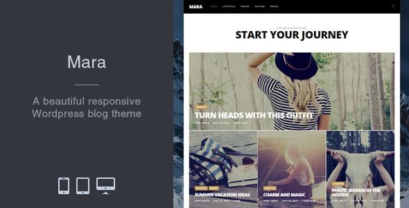Wordpress Blog Template Mara - Beautiful Photo WordPress Blog Theme