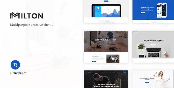Wordpress Kreativ Template Milton | Multipurpose Creative WordPress Theme