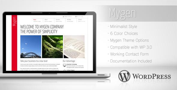 Wordpress Corporate Template Mygen - Minimalist Business WordPress Theme 2