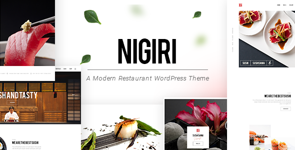Wordpress Entertainment Template Nigiri - A Modern Restaurant WordPress Theme