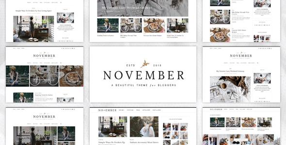 November Ein Wordpress Blog Template Agentur Zweigelb