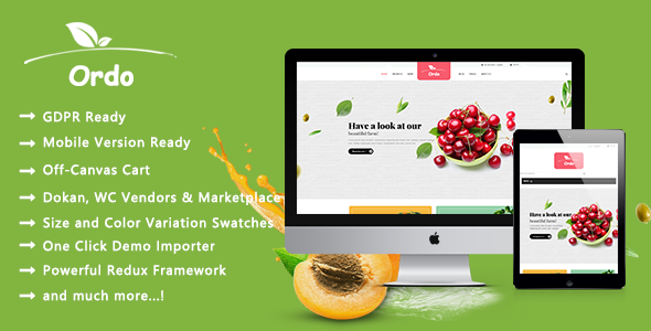 Wordpress Shop Template Ordo - Organic Beauty and Eco Products WooCommerce WordPress Theme