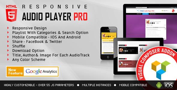 Visual Composer Addon HTML5 Audio Player Pro
