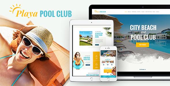 Wordpress Entertainment Template Playa | City Beach & Pool Club WordPress Theme