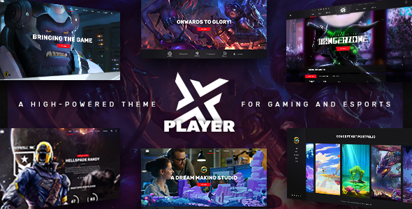 Wordpress Entertainment Template PlayerX - A High-powered Theme for Gaming and eSports