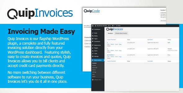 Quip Rechnungen Fully Featured Wordpress Fakturierung Agentur