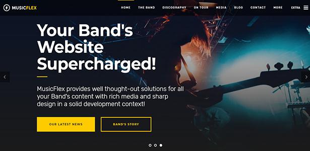 Musik Flex - Musik Band & Musiker WordPress Template