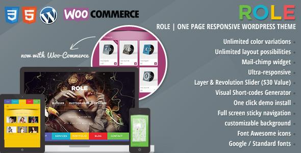 Wordpress Kreativ Template Role Portfolio | One Page Portfolio WordPress Theme