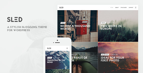 Wordpress Blog Template SLED - A Stylish Blogging Theme for Sharing Stories