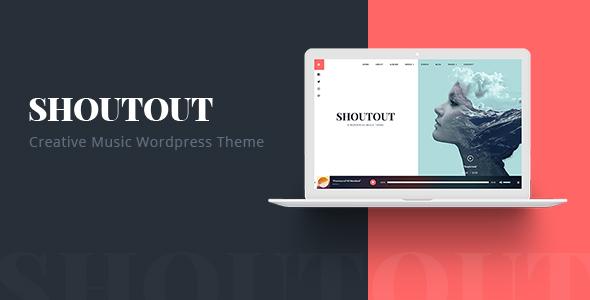 Wordpress Entertainment Template ShoutOut - A Clean WordPress Music Theme