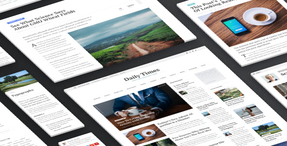 Wordpress Blog Template TIMES - Extraordinary Newspaper Magazine Theme