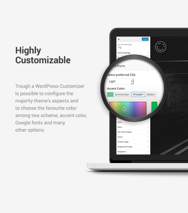 Wordpress Kreativ Template Tag: Creative Agency/Portfolio Fullscreen Theme